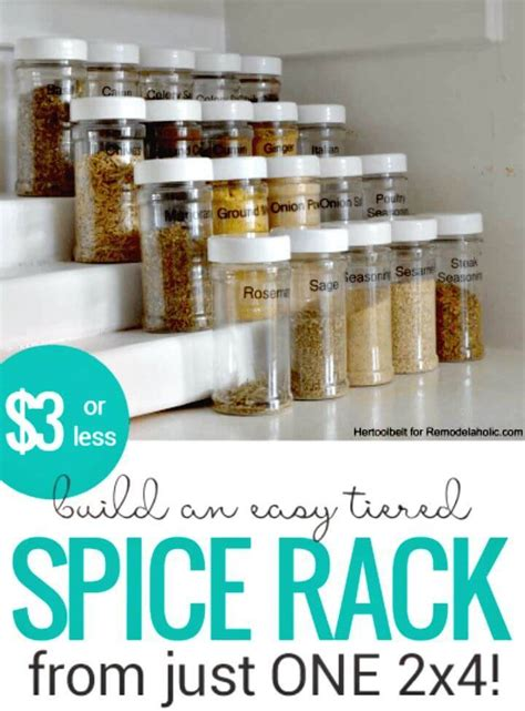 Diy Spice Rack Tiered