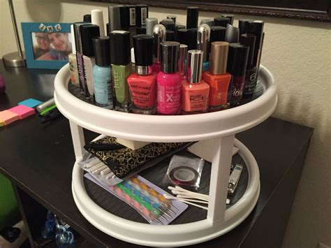 Diy Spinning Nail Polish Rack