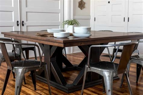 Diy Square Pedestal Dining Table