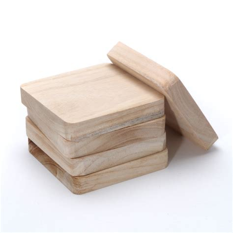 Diy Square Wood Coasters Craft