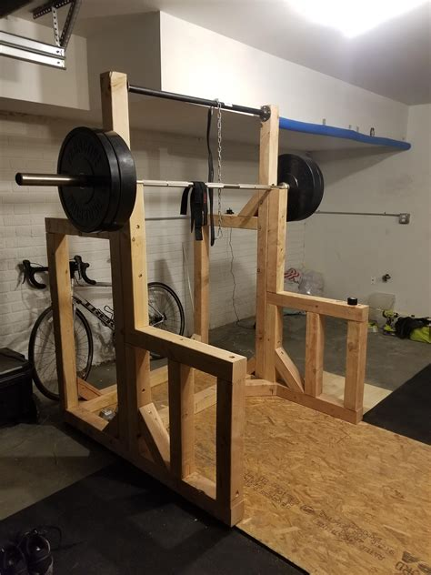 Diy Squat Rack With Pull Up Bar