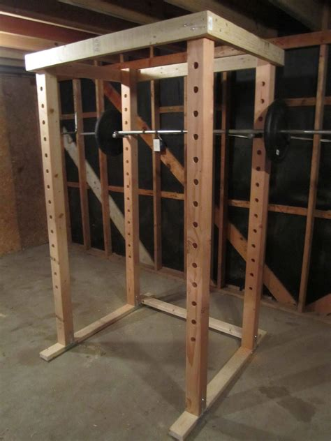 Diy Squat Rack Wooden