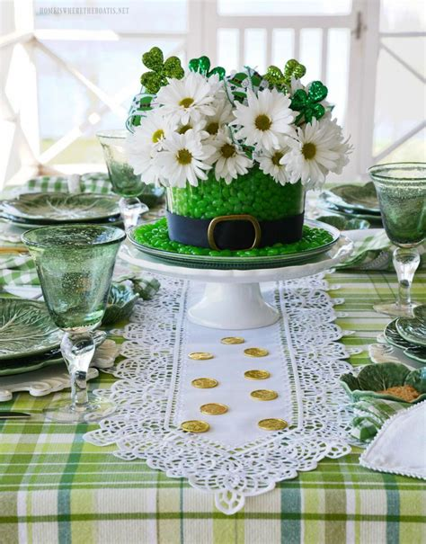 Diy St Patrick's Day Table Centerpiece