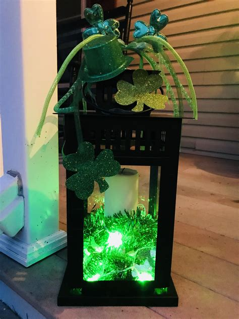 Diy St Patricks Table Center Video Dollar Store Decorations