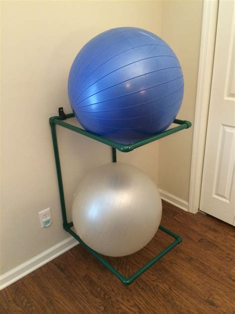 Diy Stability Ball Storage