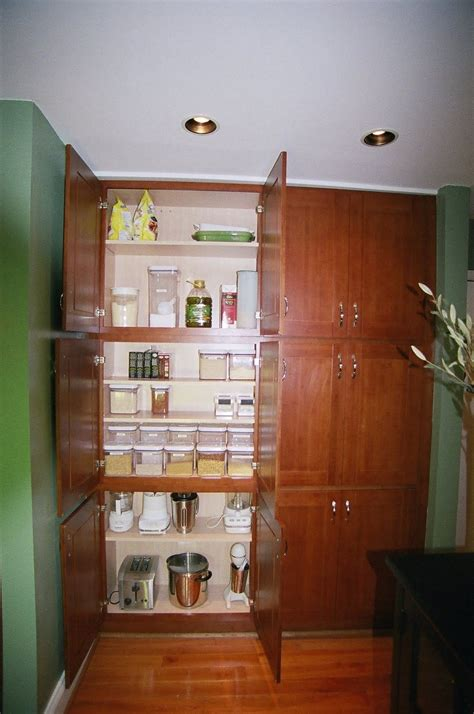 Diy Stacked Cabinets To Create Pantry