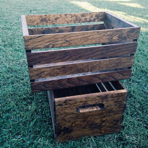 Diy Stain Wood Crates