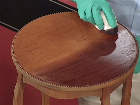 Diy Stained Wood Table