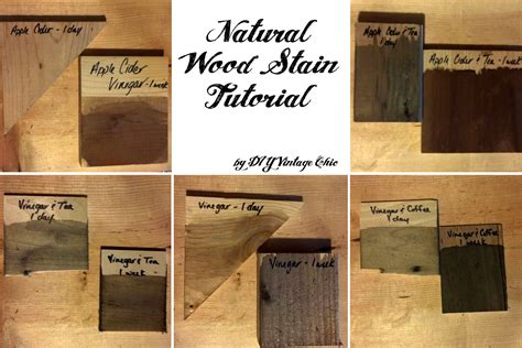 Diy Staining Wood With Vinegar