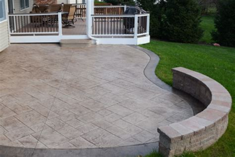 Diy Stamped Concrete Patio Cost