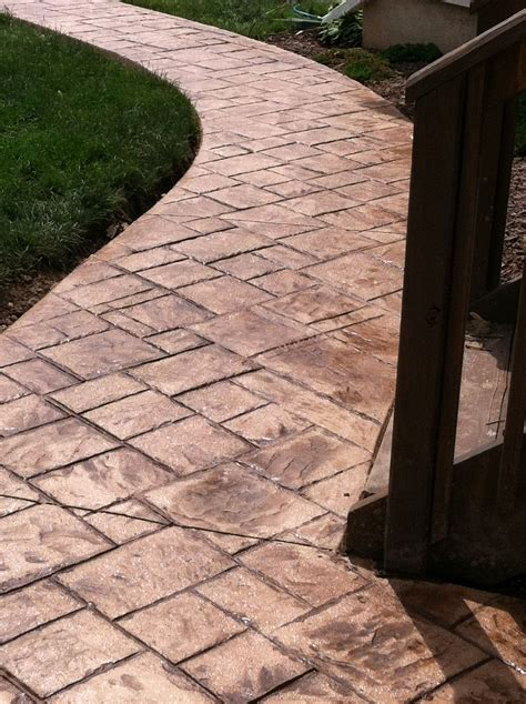 Diy Stamped Concrete Walkway