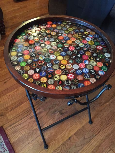 Diy Steelers Beer Cap Table