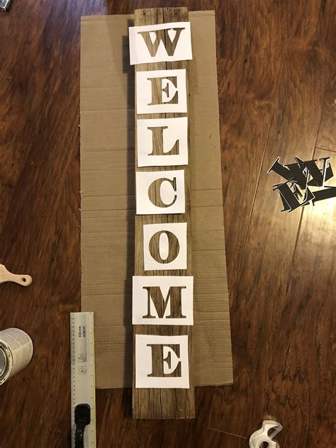 Diy Stencil Wood Sign