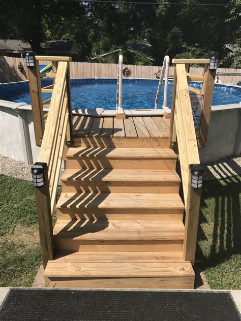 Diy Step Ladder For Pool