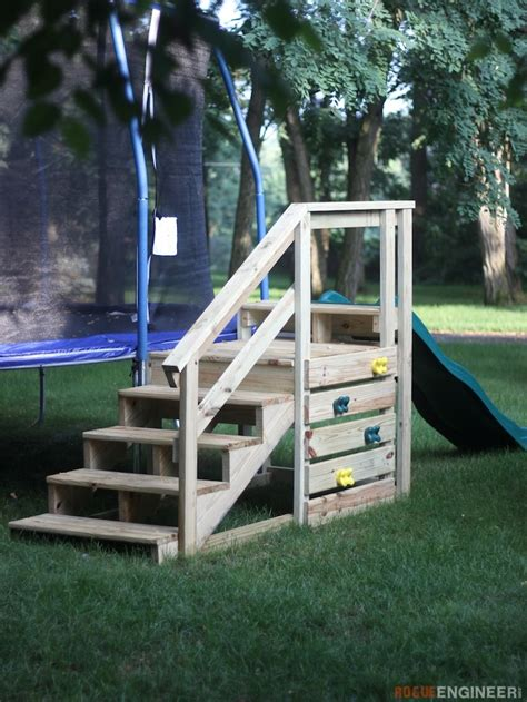 Diy Steps For Trampoline