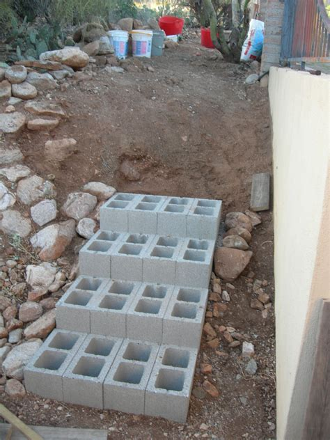Diy Steps With Concrete Blocks
