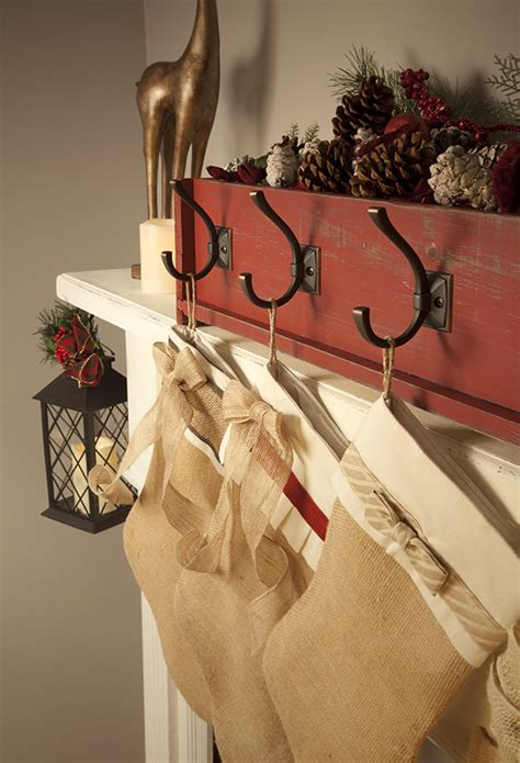 Diy Stocking Holder For Fireplace Mantel