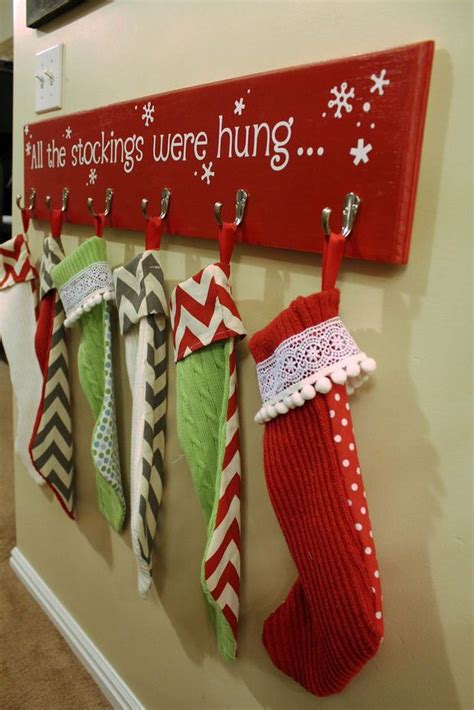 Diy Stocking Holder For Mantle