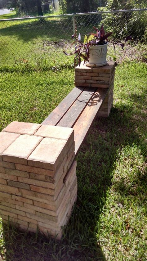 Diy Stone And Wood Benches