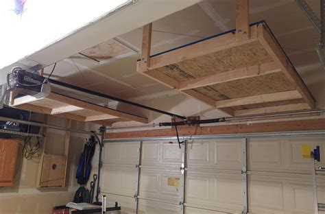 Diy Storage Above Garage Door