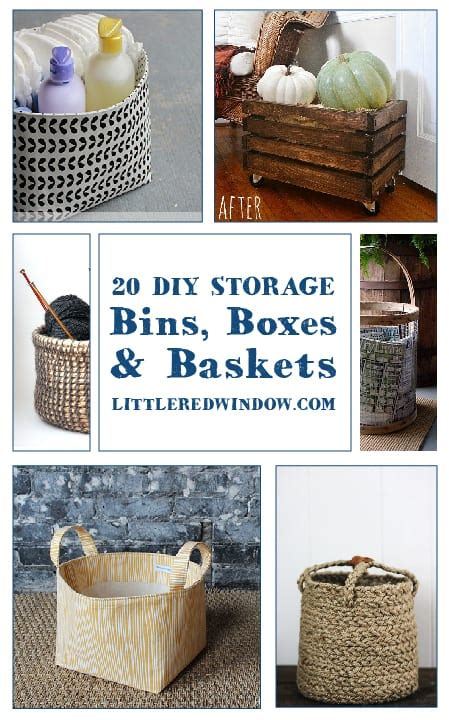 Diy Storage Bins Or Baskets