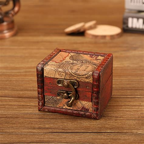 Diy Storage Box Wood Metal Lock