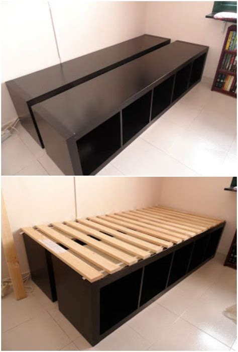 Diy Storage Cube Bed Frame