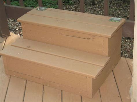 Diy Storage Hot Tub Steps