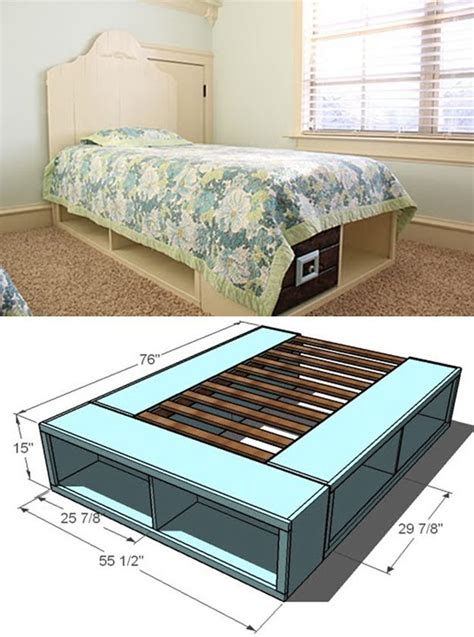 Diy Storage Platform Bed Frame
