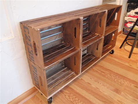 Diy Storage Shelves On Wheels