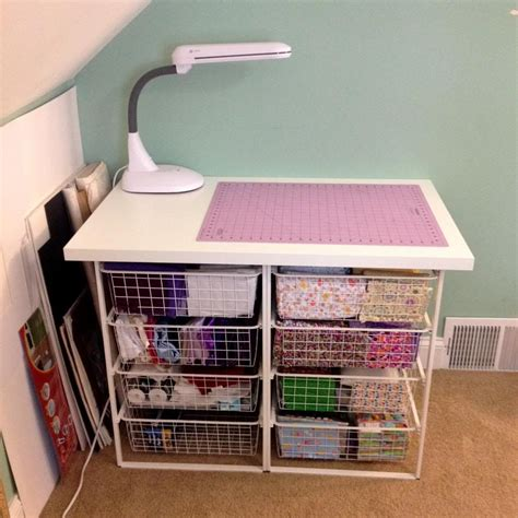 Diy Storage Table For Fabric