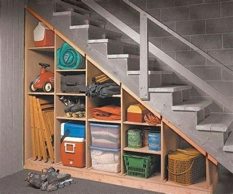 Diy Storage Under Basement Stairs