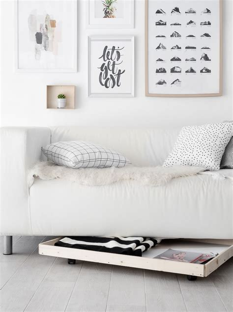 Diy Storage Under Sofa