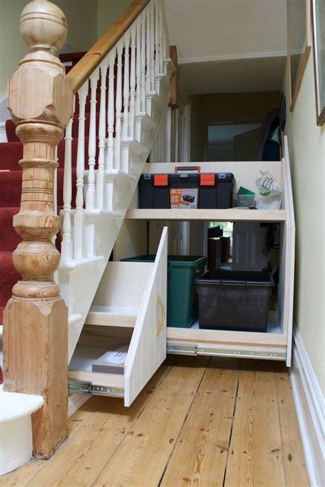 Diy Storage Under Stairs