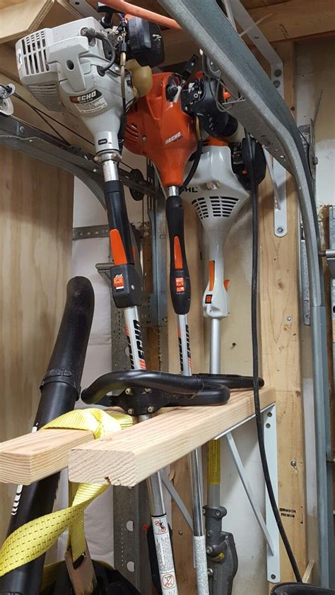 Diy String Trimmer Shovel Rack