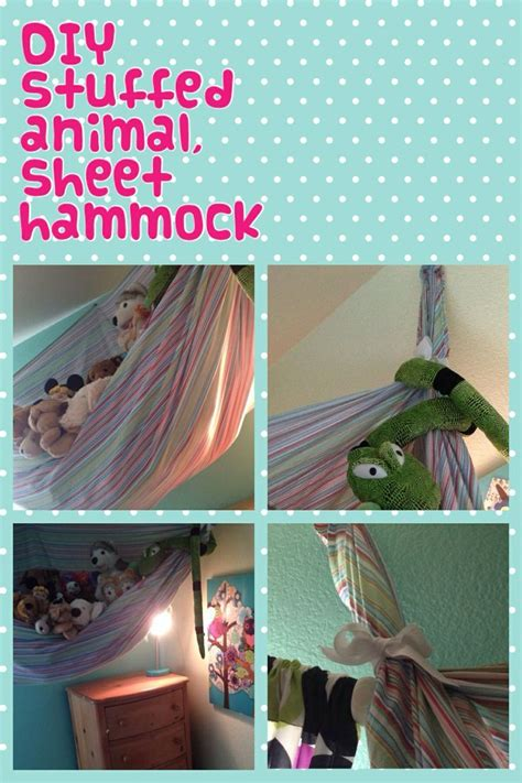 Diy Stuffed Animal Storage With Sheet