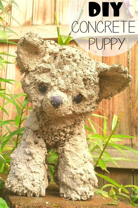 Diy Stuffed Animals In Cement For Yard Art