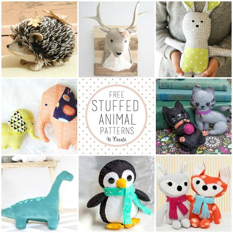 Diy Stuffed Animals Patterns Free
