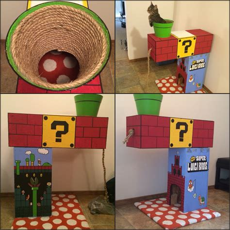 Diy Super Mario Cat Climber