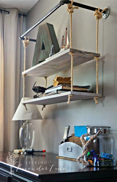 Diy Suspended Shelf From Ceiling