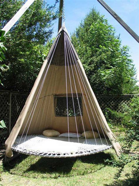 Diy Swing Bed From Trampoline