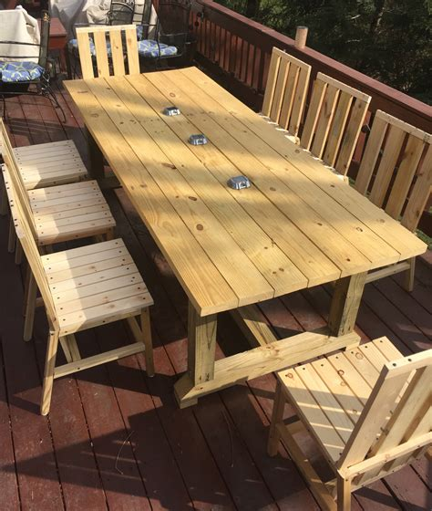 Diy Table And Chairs Outdoor