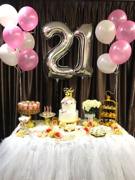 Diy Table Decorations For 21st Birthday