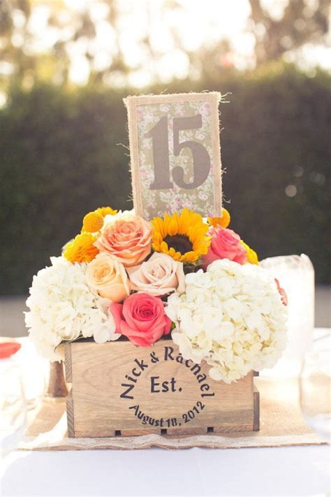 Diy Table Number Centerpieces With Crates