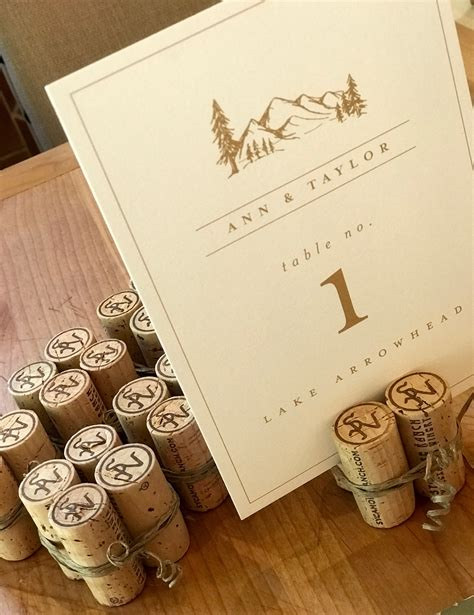 Diy Table Number Holders