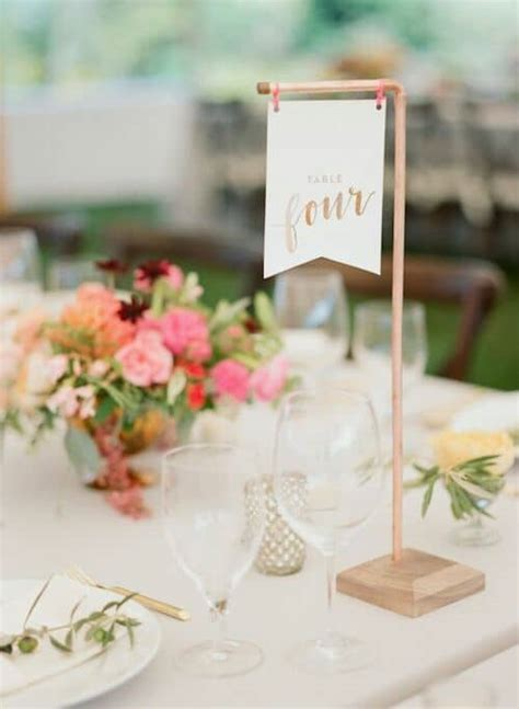 Diy Table Numbers Flags