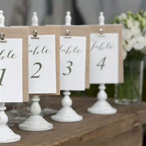 Diy Table Numbers For Wedding Reception
