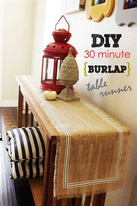 Diy Table Runner Burlap