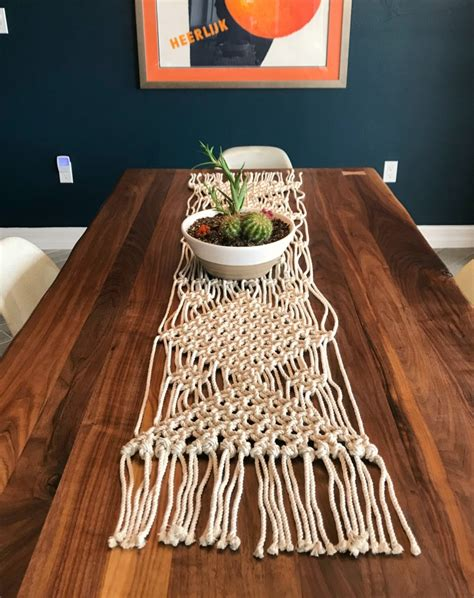 Diy Table Runner Macrame