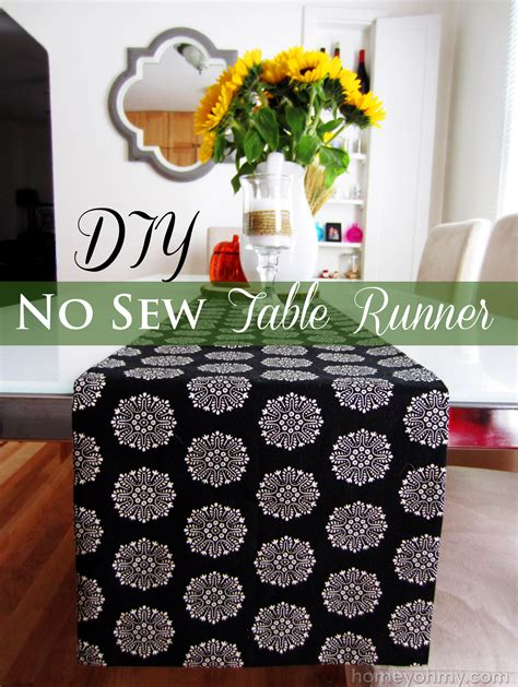 Diy Table Runners With No Stitching
